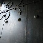 Door with iron decor by ctsang