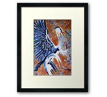 Hungarian Heron Framed Print