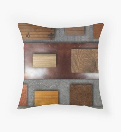 Wood Chunks Throw Pillow