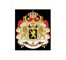 Belgian coat of arms Art Print