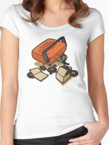 Record Eater Women's Fitted Scoop T-Shirt