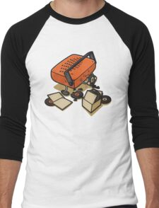Record Eater Men's Baseball ¾ T-Shirt
