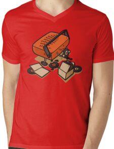 Record Eater Mens V-Neck T-Shirt