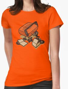 Record Eater Womens Fitted T-Shirt