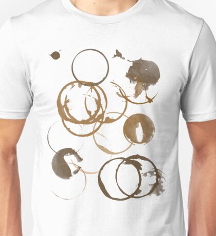 Coffee cup stains Unisex T-Shirt