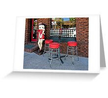 Betty Boop Cafe Greeting Card