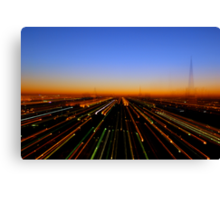 Lightspeed City Canvas Print