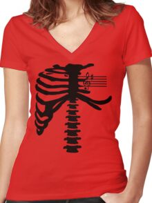 Music Within Women's Fitted V-Neck T-Shirt