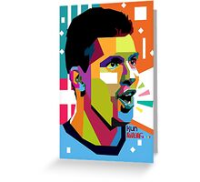 """World Cup 2014 Edition"" Kun AGUERO in WPAP Greeting Card"