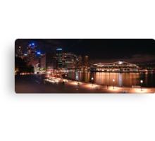 Golden Harbour Panorama Canvas Print