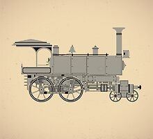 Old steam locomotive by Alexzel