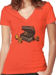 Pancakes Solarium Women's Fitted V-Neck T-Shirt