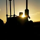 Tractor Silhouette by Adrian Young