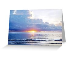 Mission Beach Sunrise Greeting Card