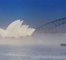 Tug Boat In Fog by hangingpixels