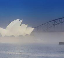 Tug Boat In Fog by hangingpixels