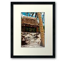 Beach Fale' - SAVAII - Samoa Framed Print