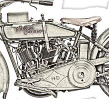 1917 vintage Harley Davidson Sticker