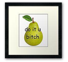 pear pressure Framed Print