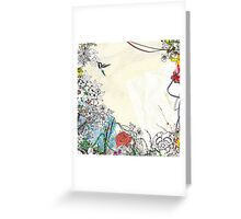 I'VE JUST CREATED A BIRD Greeting Card