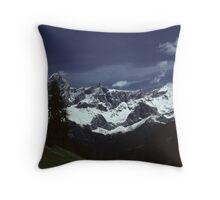Mountain chain in the Austrian Alps Throw Pillow