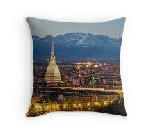 Turin (Torino), night panorama Throw Pillow