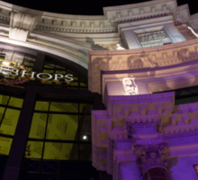 Another View of the Forum Shops Glamorous Entrance at Night Sticker