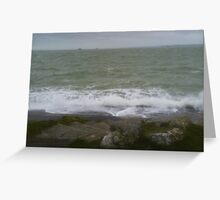Wild Waves on the Rocks Greeting Card