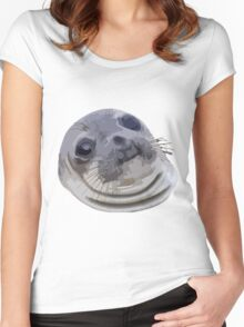 Awkward Seal Women's Fitted Scoop T-Shirt