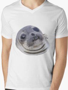 Awkward Seal Mens V-Neck T-Shirt