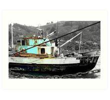 I am still seaworthy - NZ - Fishing Boat - Port Chalmers Art Print