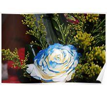 The bluish-white rose Poster