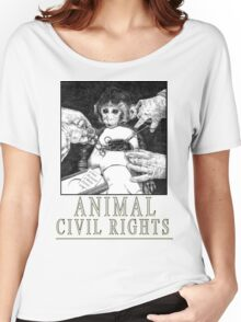 Animal Civil Rights (Rhesus Monkey) Women's Relaxed Fit T-Shirt