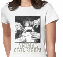 Animal Civil Rights (Rhesus Monkey) Womens Fitted T-Shirt
