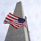 Flag at the Washington Monument by Brad Staggs