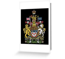 The Arms of Canada, also known as the Royal Coat of Arms of Canada Greeting Card