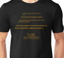A-Team - Star Wars crawl Unisex T-Shirt