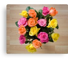 Real Roses Canvas Print