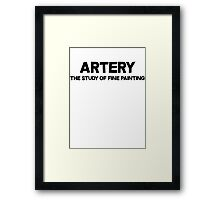 Artery The study of fine painting Framed Print