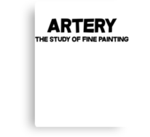 Artery The study of fine painting Canvas Print
