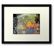 The colours of Love - Mother and child Framed Print