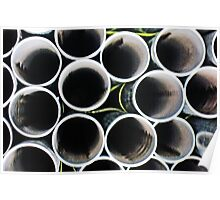 Looking inside the pipes ~ pillow collection Poster