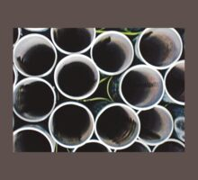 Looking inside the pipes ~ pillow collection One Piece - Short Sleeve