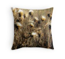 Thistles in the Field Throw Pillow