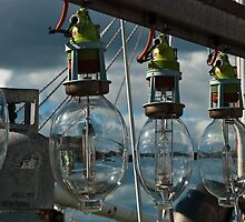 Lamps on a commercial fishing boat by DavidsArt