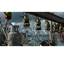 Lamps on a commercial fishing boat Photographic Print