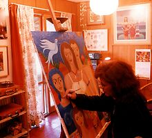 Painting in my studio by Madalena Lobao-Tello