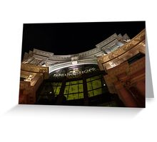 The Forum Shops at Night Greeting Card