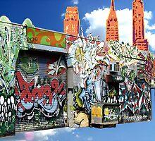 Graffiti in Brooklyn by valizi