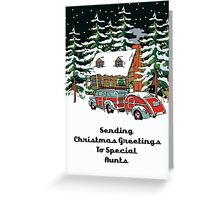 Aunts Sending Christmas Greetings Card Greeting Card